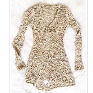 Long Crochet Sweater